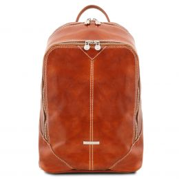 Mumbai Leather Backpack (Color: Honey)